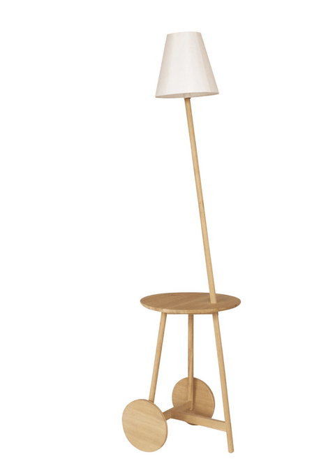 Triss Side Table with Floor Lamp - Stumble & Loaf