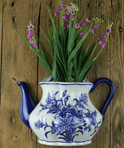 Tea Pot Wall Vase