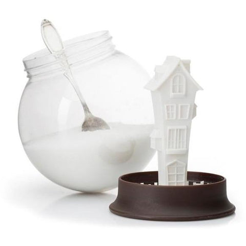Our product of the week! We so love this item! Our lovely 'snow globe' sugar house is so fun and awesome. It really does put boring old canisters to shame.