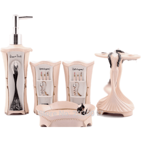 girly bathroom set