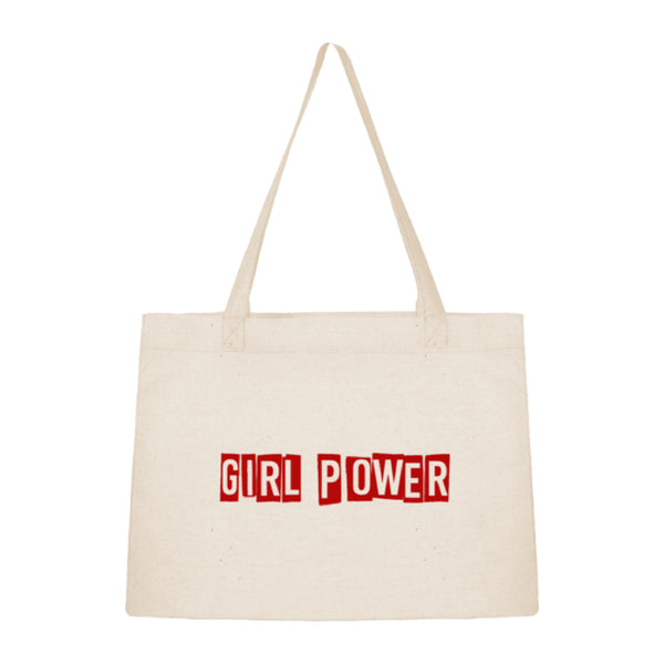 Tote bag sac shopping en coton bio Girl power