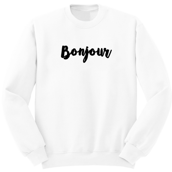 sweat supergirl gang bonjour blanc