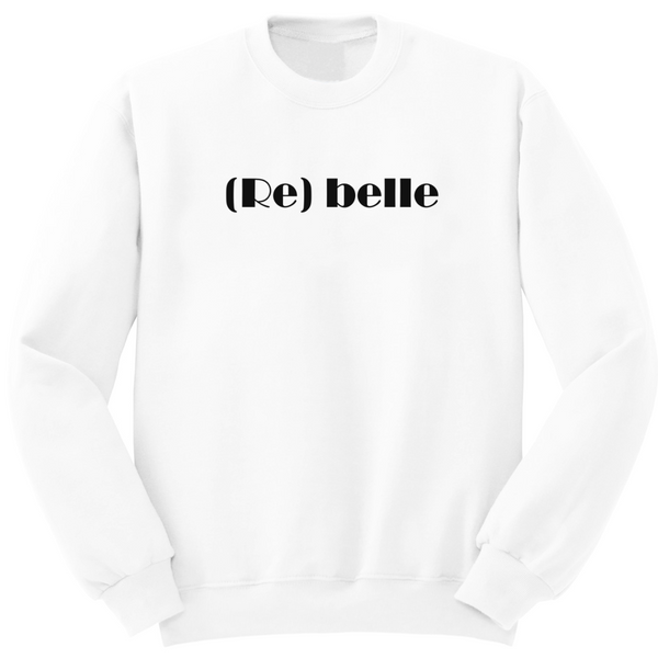 Sweat blanc avec inscription rebelle