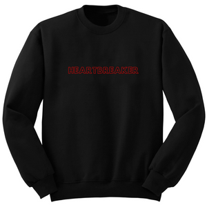 Sweat noir avec inscription heartbreaker