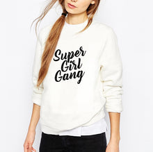 Charger l'image dans la galerie, Sweat bio avec inscription supergirl gang