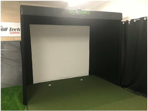 NEW - SimCube SQ Screen Golf Simulator Enclosure with Framework Poles - UK Only