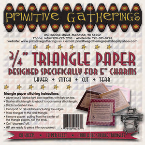 "3/4"" Triangle Paper for Charms - All About Quilting"