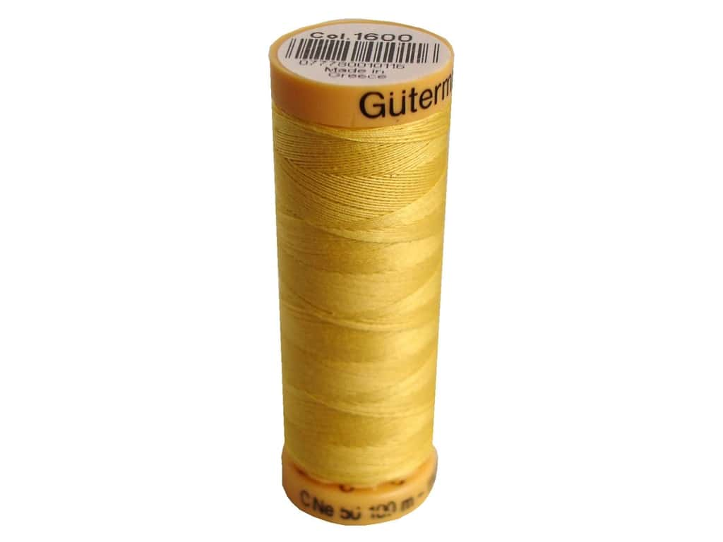 100% Cotton Thread - 1600 - Yellow - All About Quilting