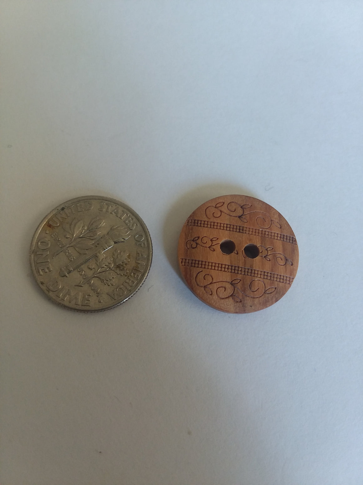 Dill Brand Wooden Button - All About Quilting