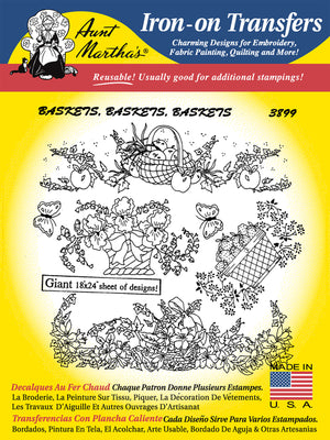 Baskets, Baskets, Baskets #3899 - Aunt Martha's Transfers - All About Quilting