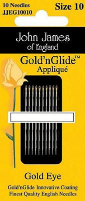 Gold'n Glide Applique Needles #10 - All About Quilting