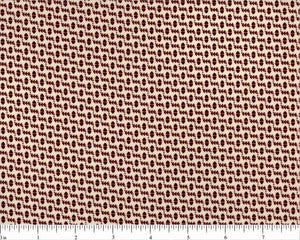Maroon Print on Beige Fabric - All About Quilting