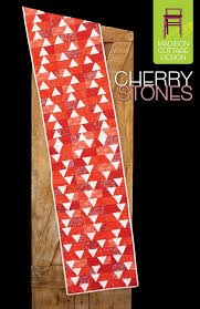 Cherry Stones Quilted Runner Pattern - All About Quilting