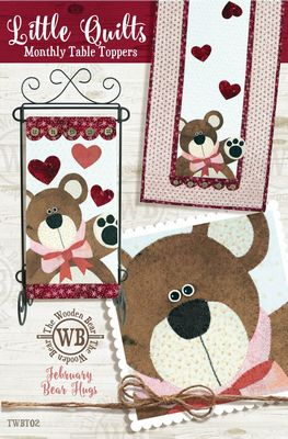 Little Quilts Monthly Table Toppers February Kit - All About Quilting