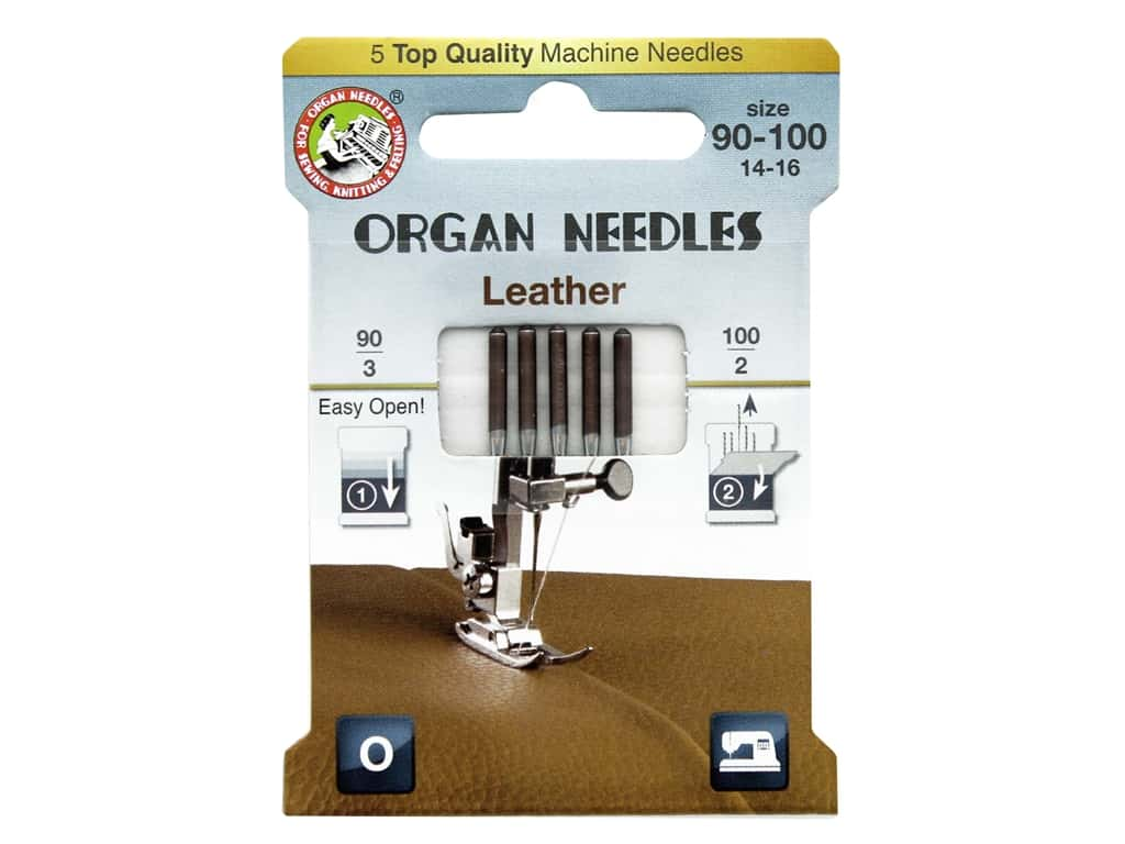 Organ Leather Machine Needle - Assorted Sizes - All About Quilting