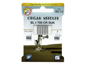 Organ EL x 705 CR SUK Machine Needles - All About Quilting