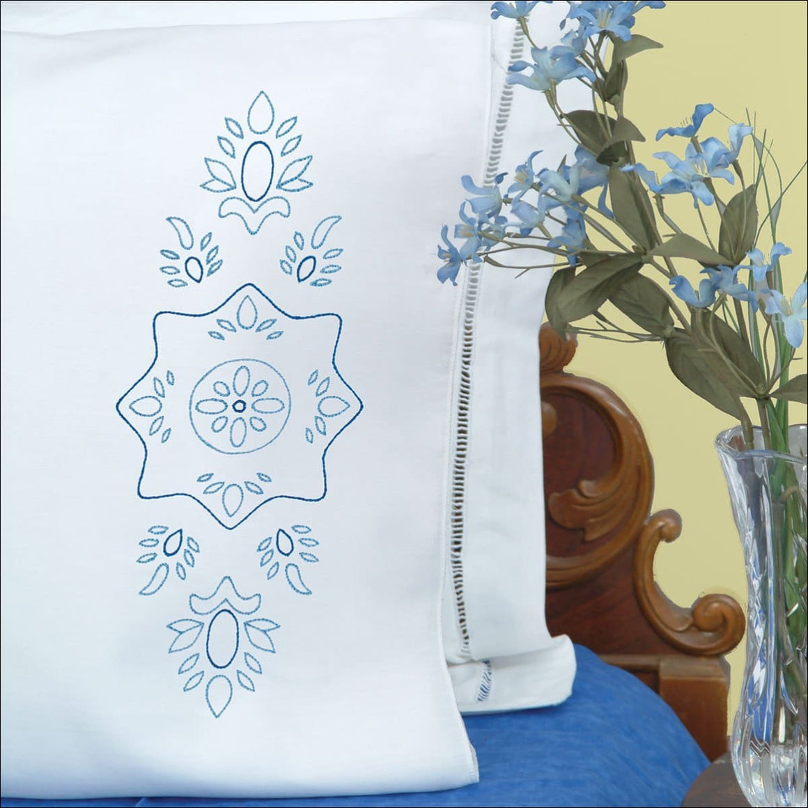 Blue Floral - All About Quilting