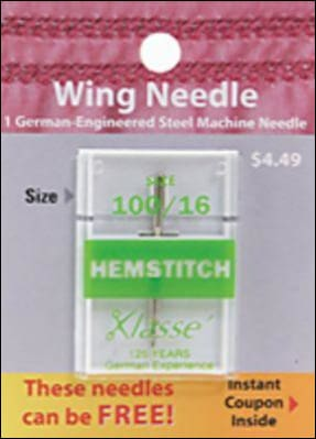 Hemstitch/Wing Needle Size 100/16 - All About Quilting