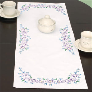 Lavender Flowers Table Runner - All About Quilting