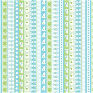 Little Charmers Stripe Turquoise/Multi - All About Quilting