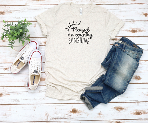 Raised on Country and Sunshine Tri-Blend T-Shirt