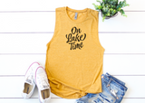 ON LAKE TIME Women's Muscle Tank Top