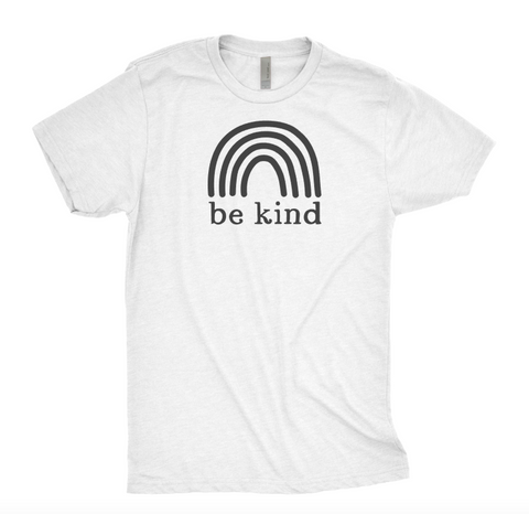 Be Kind with Black Rainbow T-Shirt - Unisex Tee