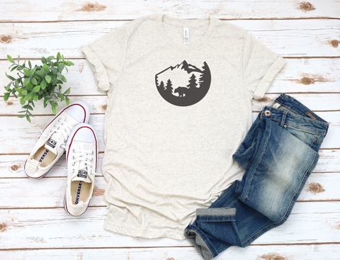 Bear in the Mountains T-Shirt - Unisex Tee
