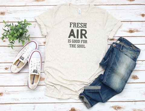 Fresh Air is Good for the Soul Tri-Blend T-Shirt