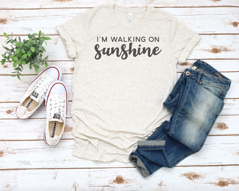 I'm Walking on Sunshine Tri-Blend T-Shirt