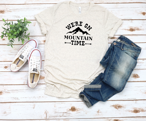 We're on Mountain Time Tri-Blend T-Shirt