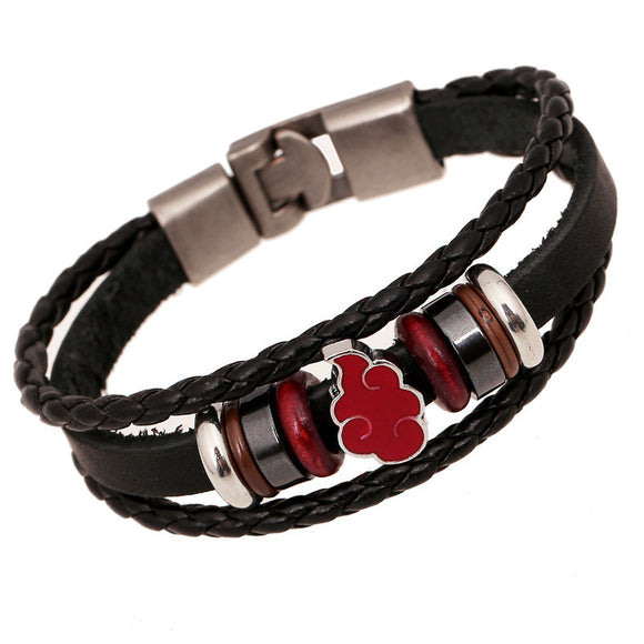 Akatsuki Cloud Genuine Leather Bracelet