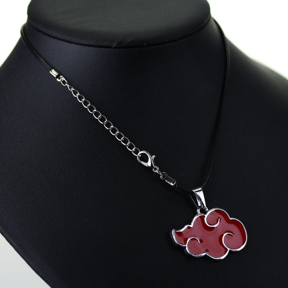 Naruto Akatsuki red cloud metal pendant necklace