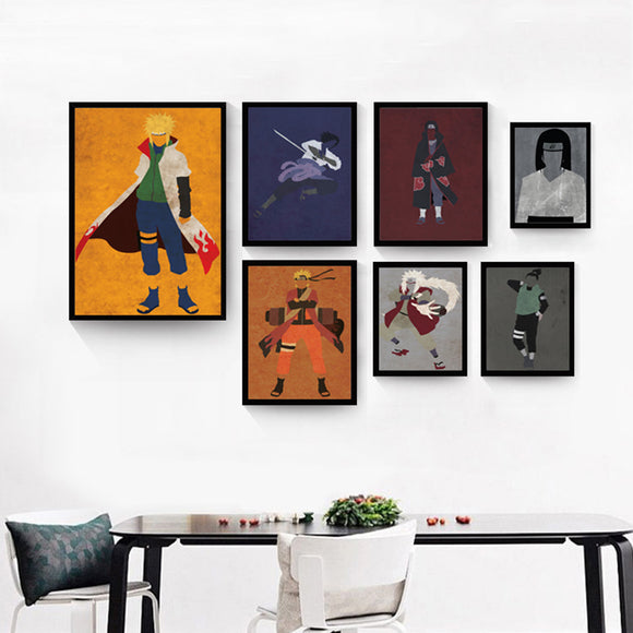 Naruto Modern Retro Canvas Wall Poster