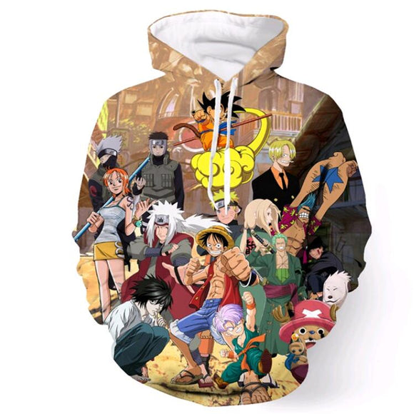 Anime Collection Hoodie 3D Printed