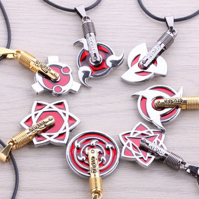 Naruto Uzumaki Sharingan Necklace