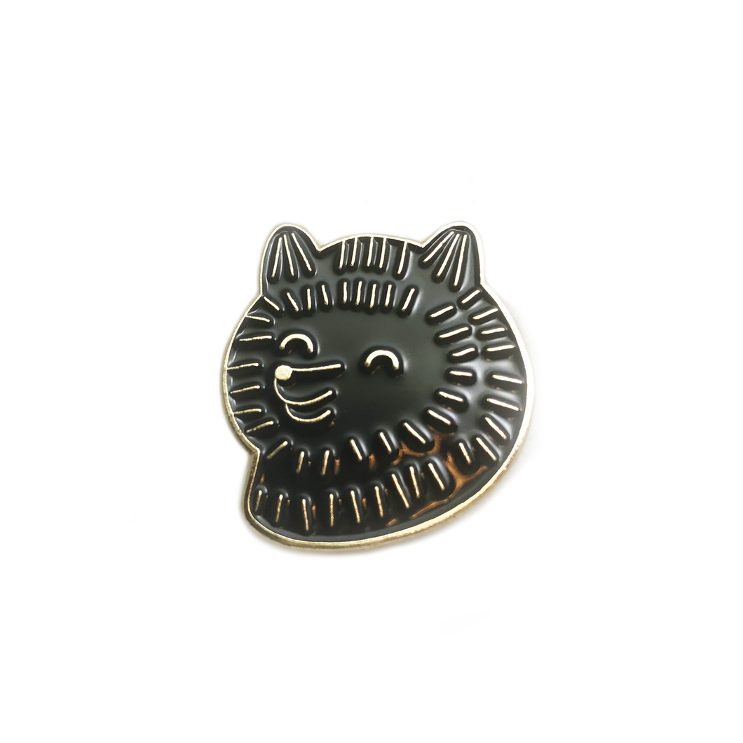 Black Pom Pom Lapel Pin