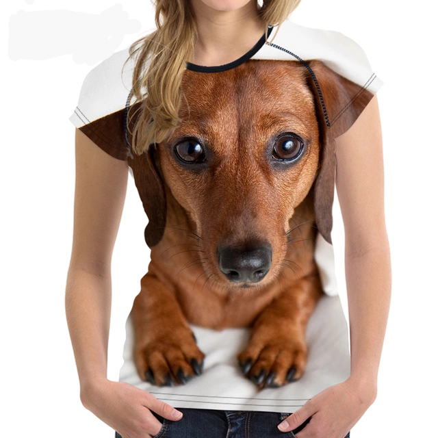 Stylish Dachshund Printed Women T-Shirt 🐾