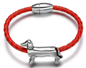 Supercute Dachshund Bracelet and Stainless Steel Charm 🐾