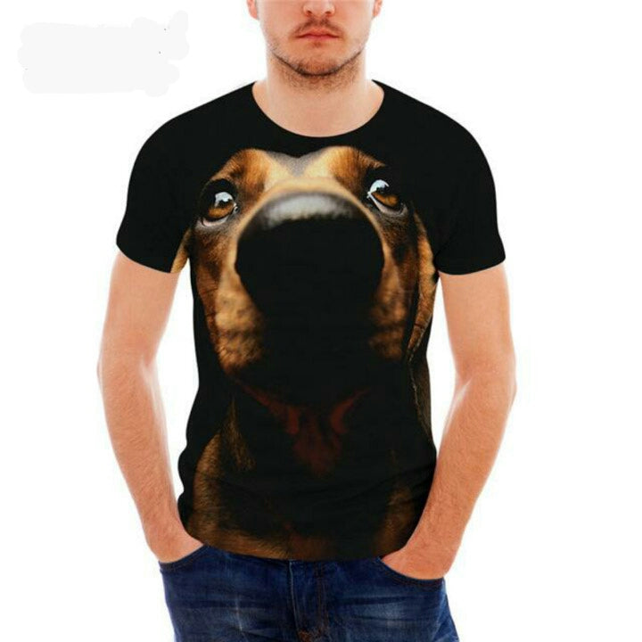 Cool Dachshund Print T Shirt for Men 🐾