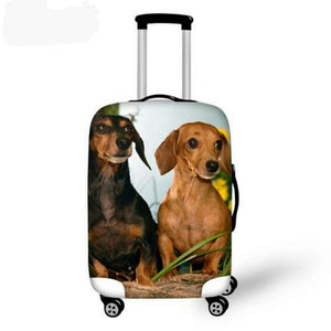 Fashioned Dachshund Travel Luggage Covers 🐾