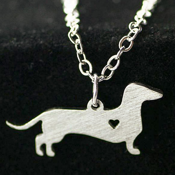 Cute Dachshund Necklace & Pendant Heartbreaker 🐾