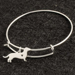 Fashion Silver Dachshund Bracelet Bangle 🐾