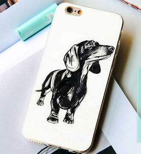 Curious Dachshund Silicone Case for iPhone 🐾