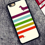 Colorful Looooong Dachshund Printed Case for iPhone 🐾