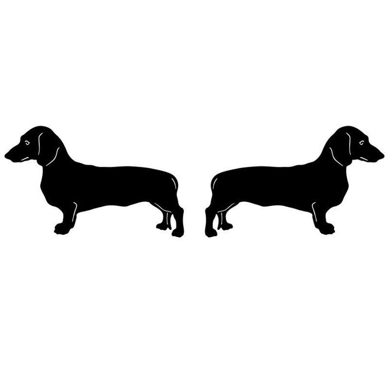 Left & Right Dachshund Vinyl Decal Stickers 🐾
