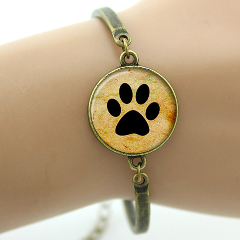 Charms Dog Lovers Paw Print Bracelet 🐾