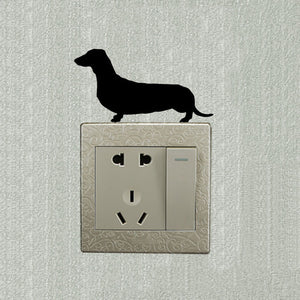 Wall Decals Dachshund Switch Sticker 🐾