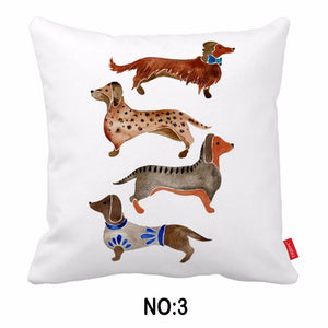 Funny Dachshund Decorative Pillowcases 🐾