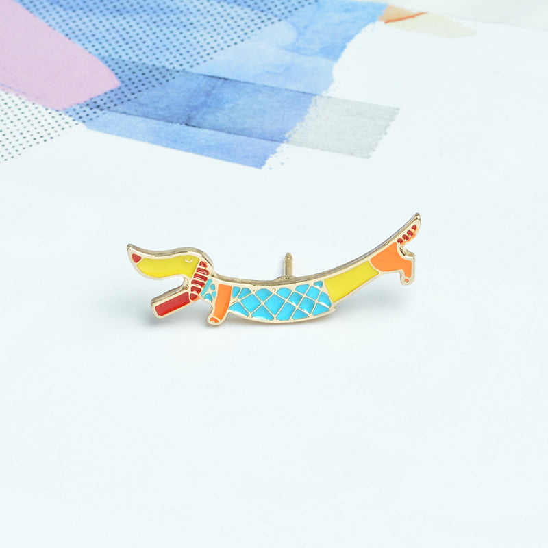 Cute Dachshund Brooch Pin 🐾